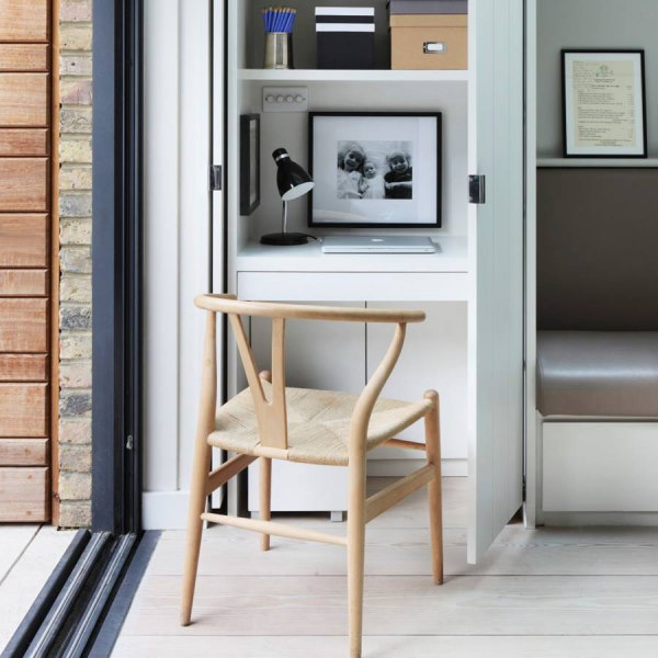 Your home office space can be compact and concealed creatively