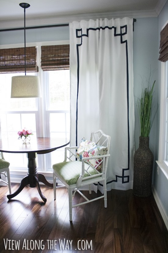 DIY Greek Style Curtains