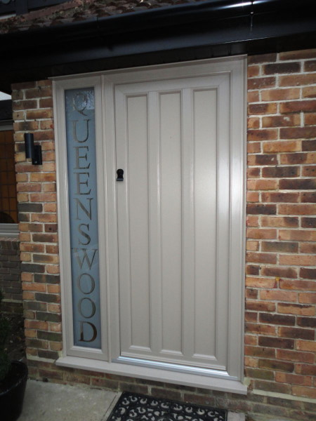 Wood Panel Style Front Door