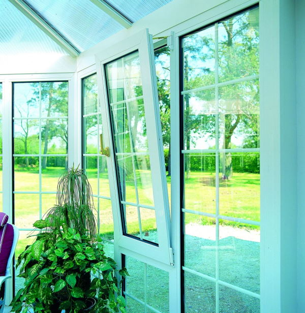 Tilt and Turn Windows in a Conservatory